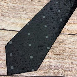 Vintage BVLGARI Black Men's Necktie